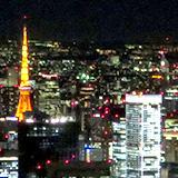 東京スカイツリーから見る夜景と夜空。