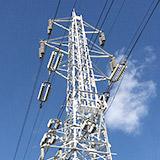 鉄塔 領家線と1回線の送電線。
