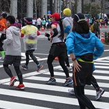 東京マラソン2015 沿道から見て応援。