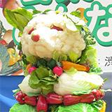渋谷 ハチ公が野菜になっとる!