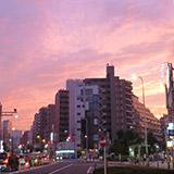 雨降りのあとはきれいな夕焼け。